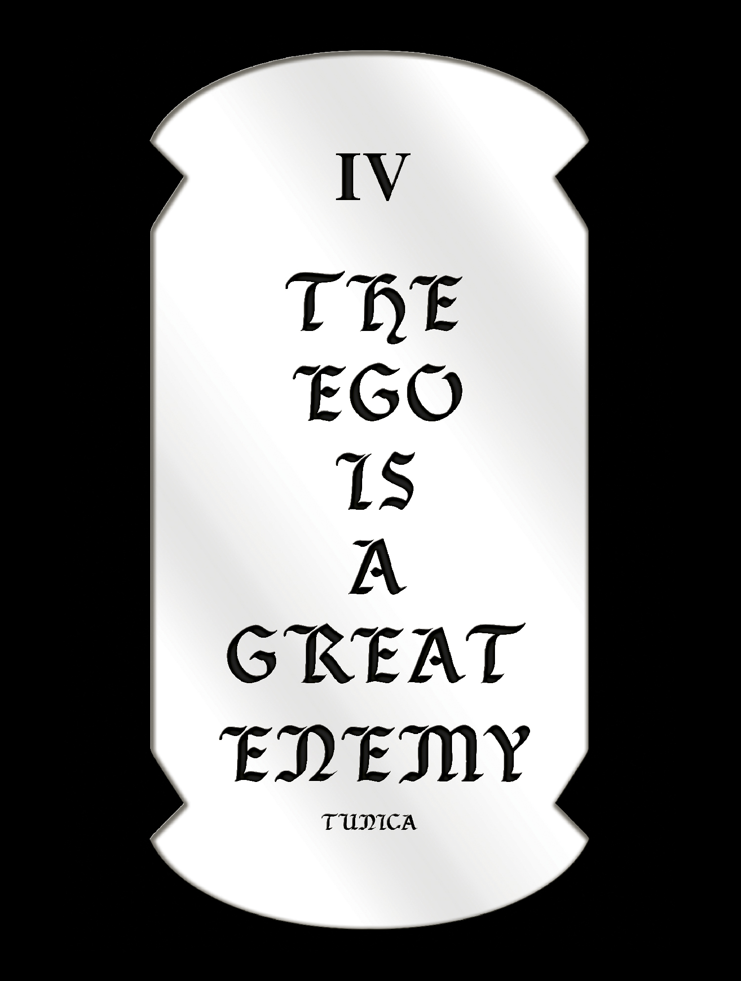 The Ego is a Great Enemy, Mirrored Plexiglass, 11.48 x22.98 inches, 2016